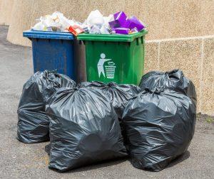 Wastes on street