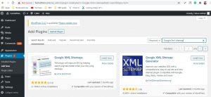 XML Sitemap configuration