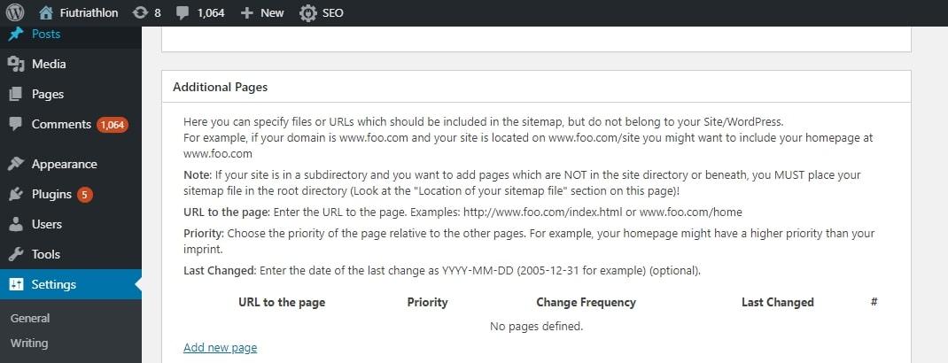 XML sitemap verification