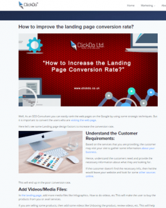 How To Improve Landing Page Conversion Rate